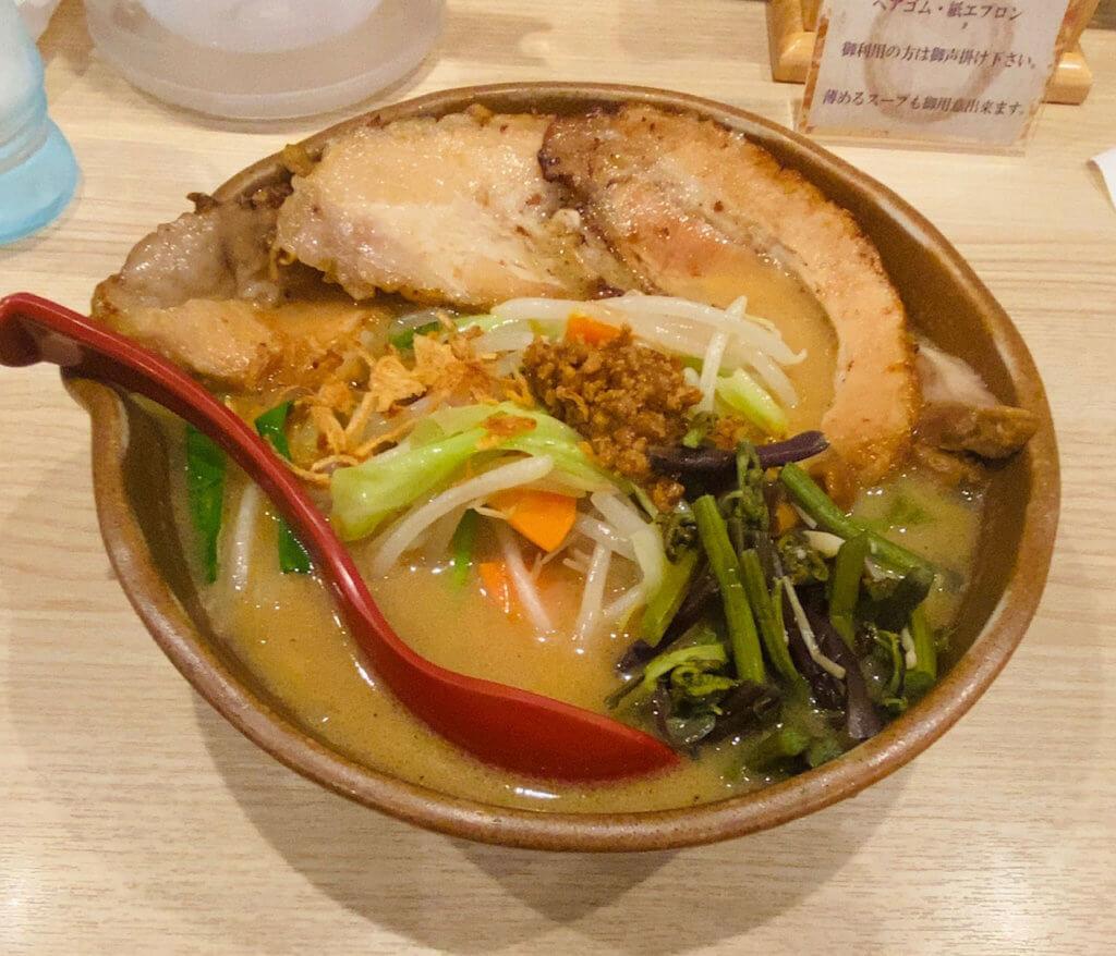 信州味噌野菜ラーメン 味噌漬け炙りチャーシュー+3枚|田所商店 浜北店