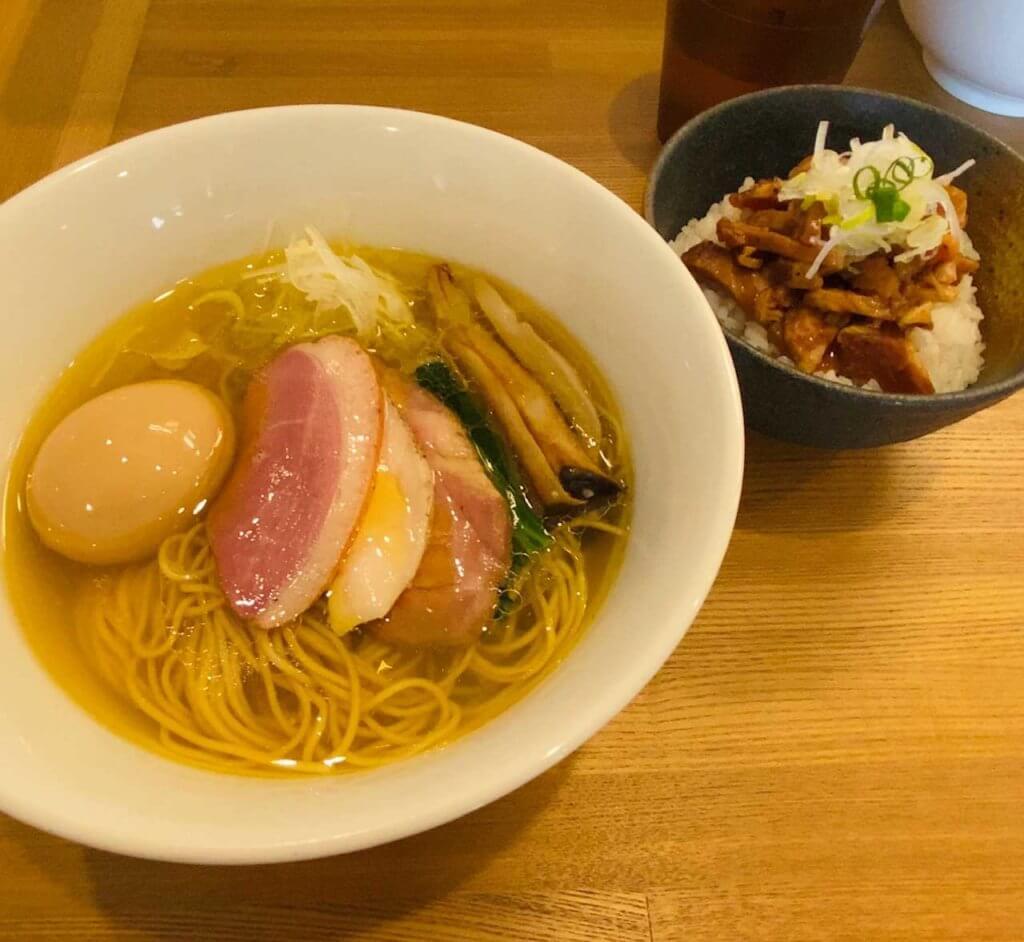 芳醇中華そば(塩)とチャーシュー丼|麺屋龍壽