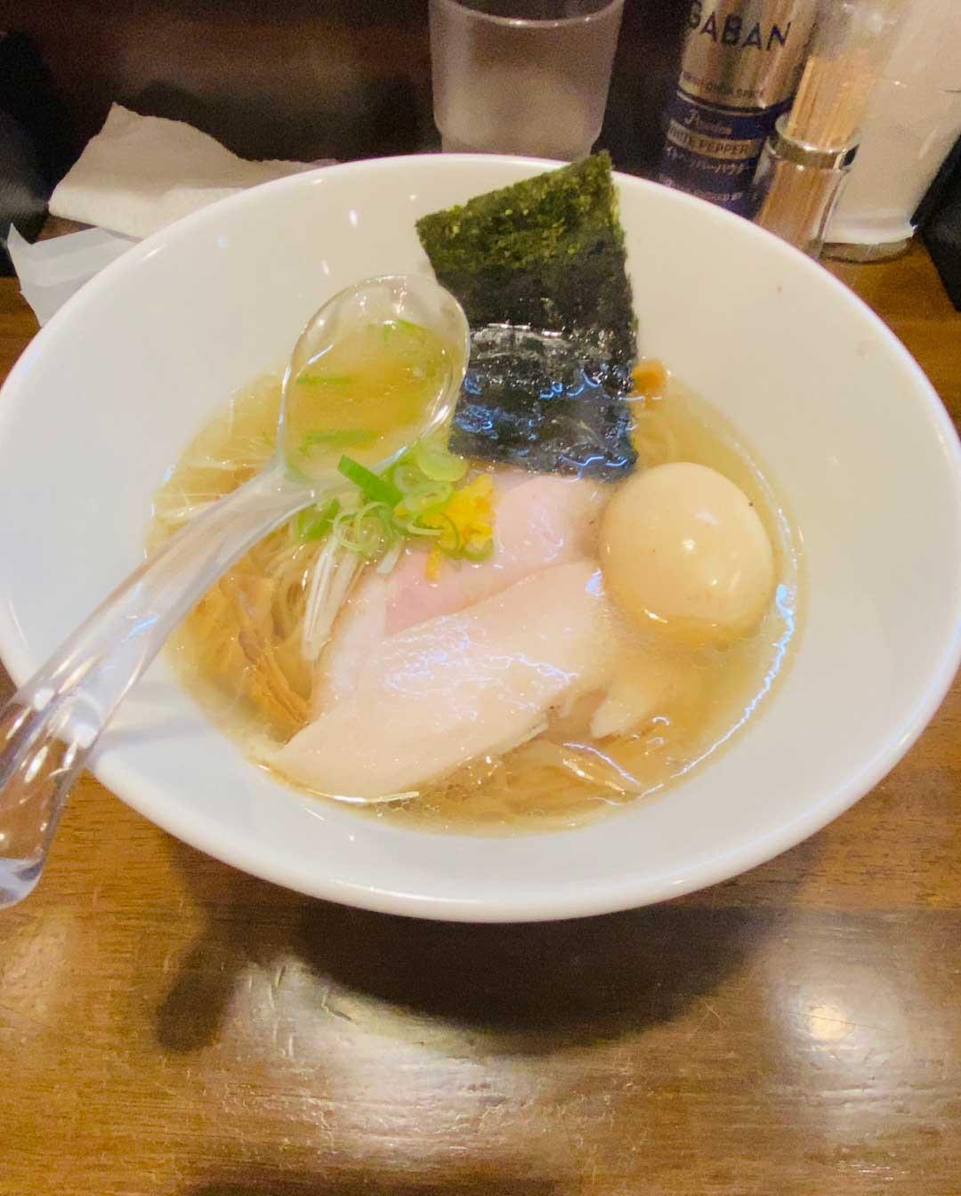 麺や まえ田の特製塩ラーメン