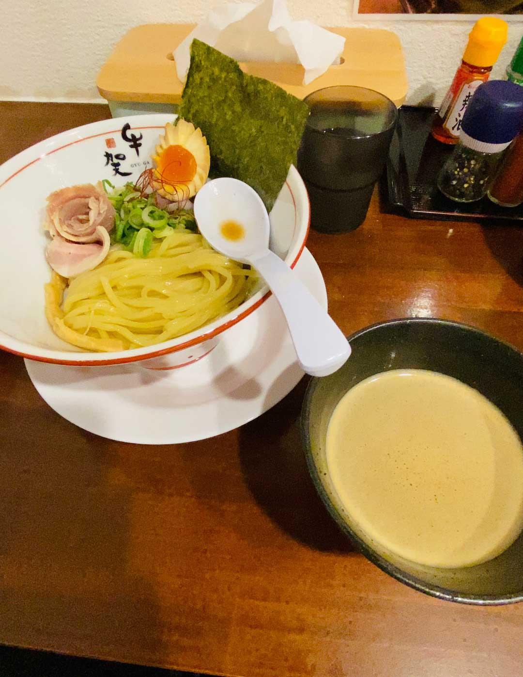 牛骨つけ麺-牛賀