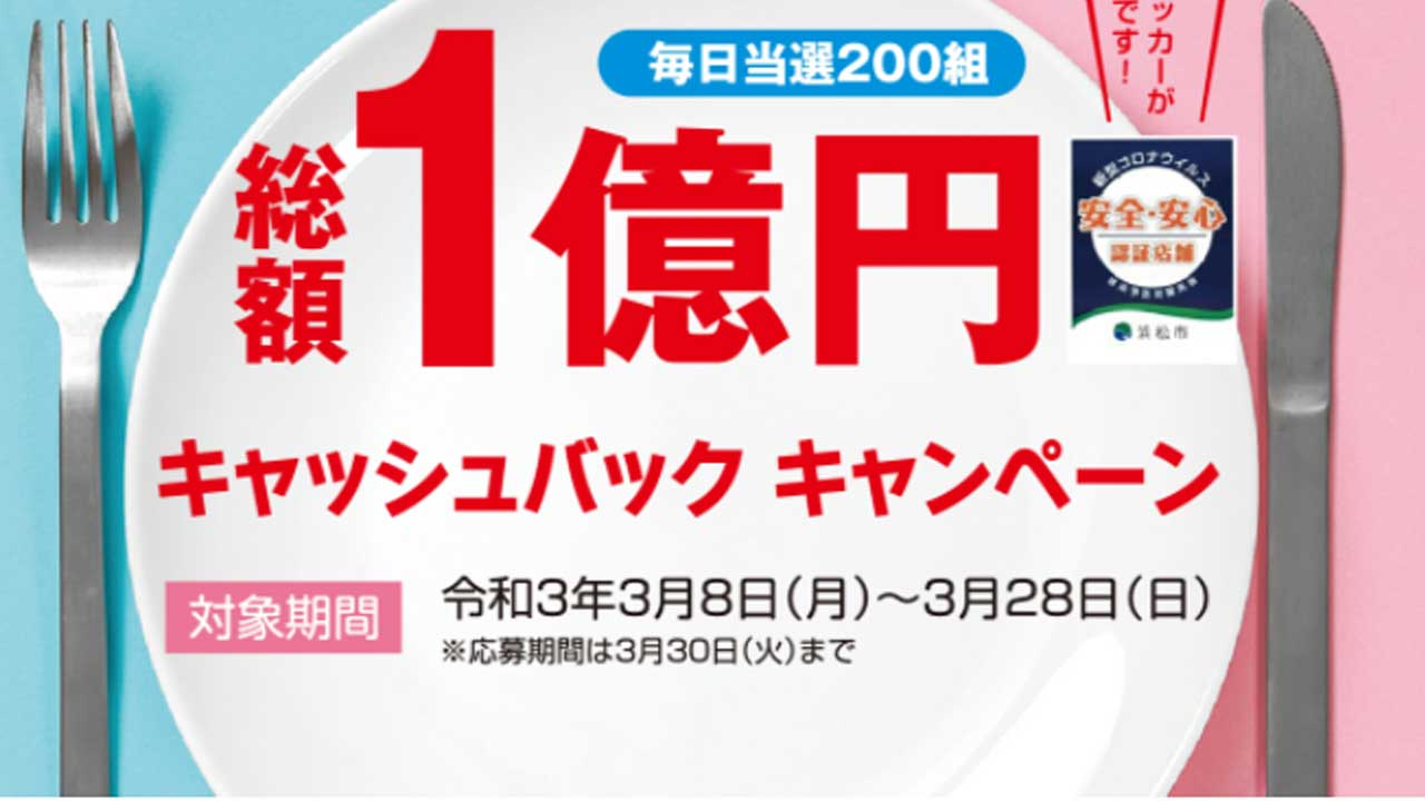 浜松市の飲食1億円キャッシュバックキャンペーンの方法が決定したよ!