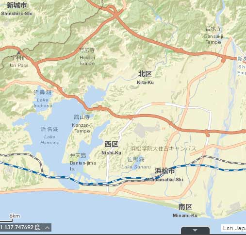 浜松市のハザードマップで何もチェックしてない状態