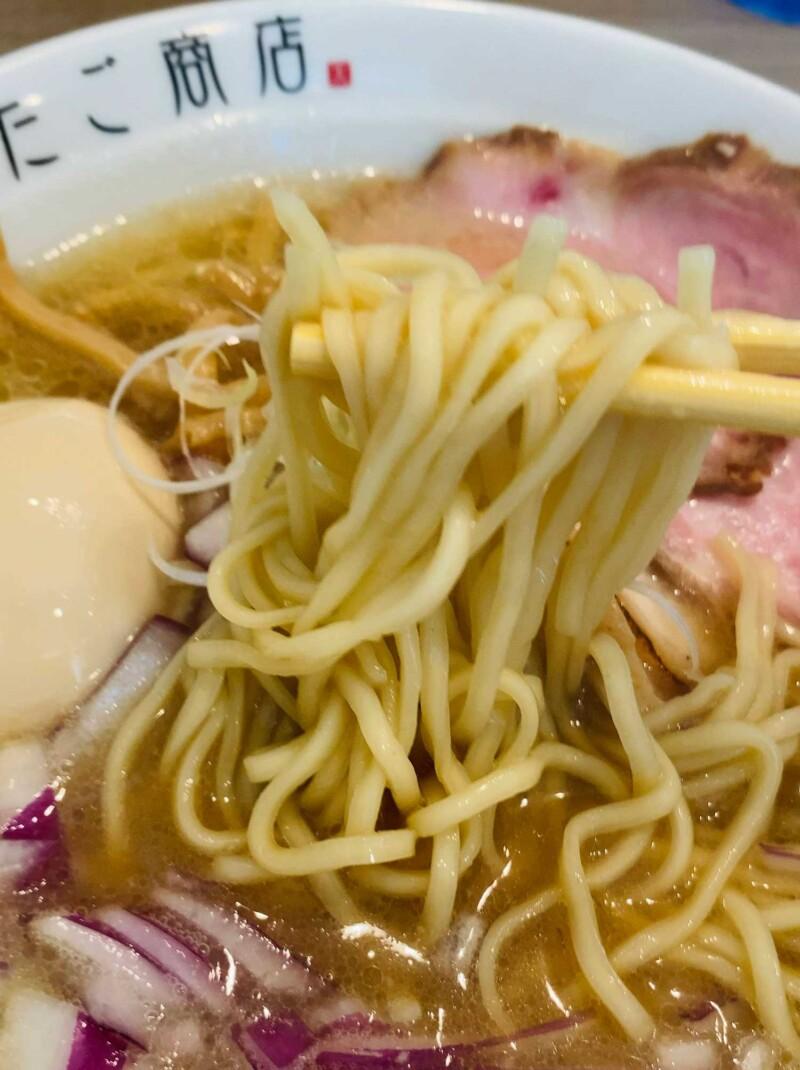 牛骨白湯そばの麺